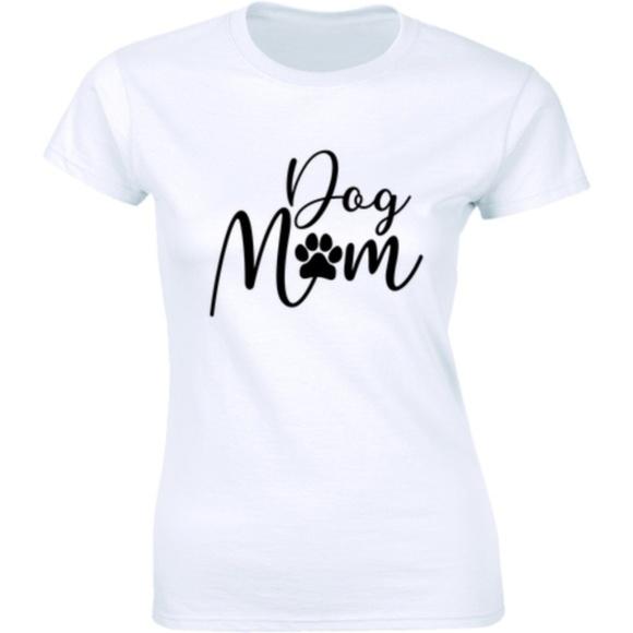 Half It Tops - Dog Mom Womens T-Shirt Pet Animal Rights Lover